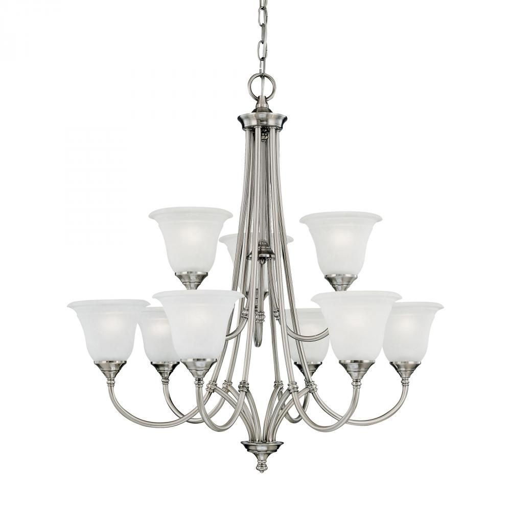 HARMONY chandelier Satin Pewter 9x60W