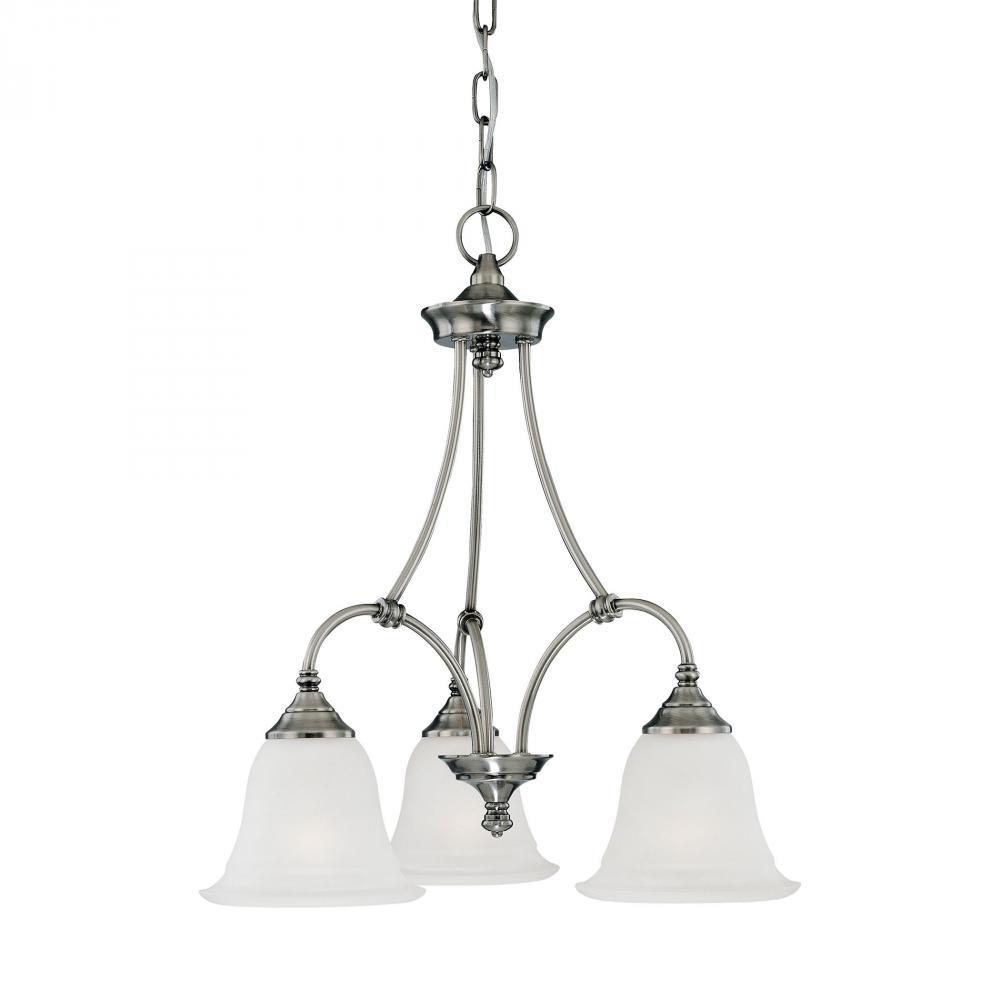 THO SL880341 3X100M Chandelier Satin Pewter