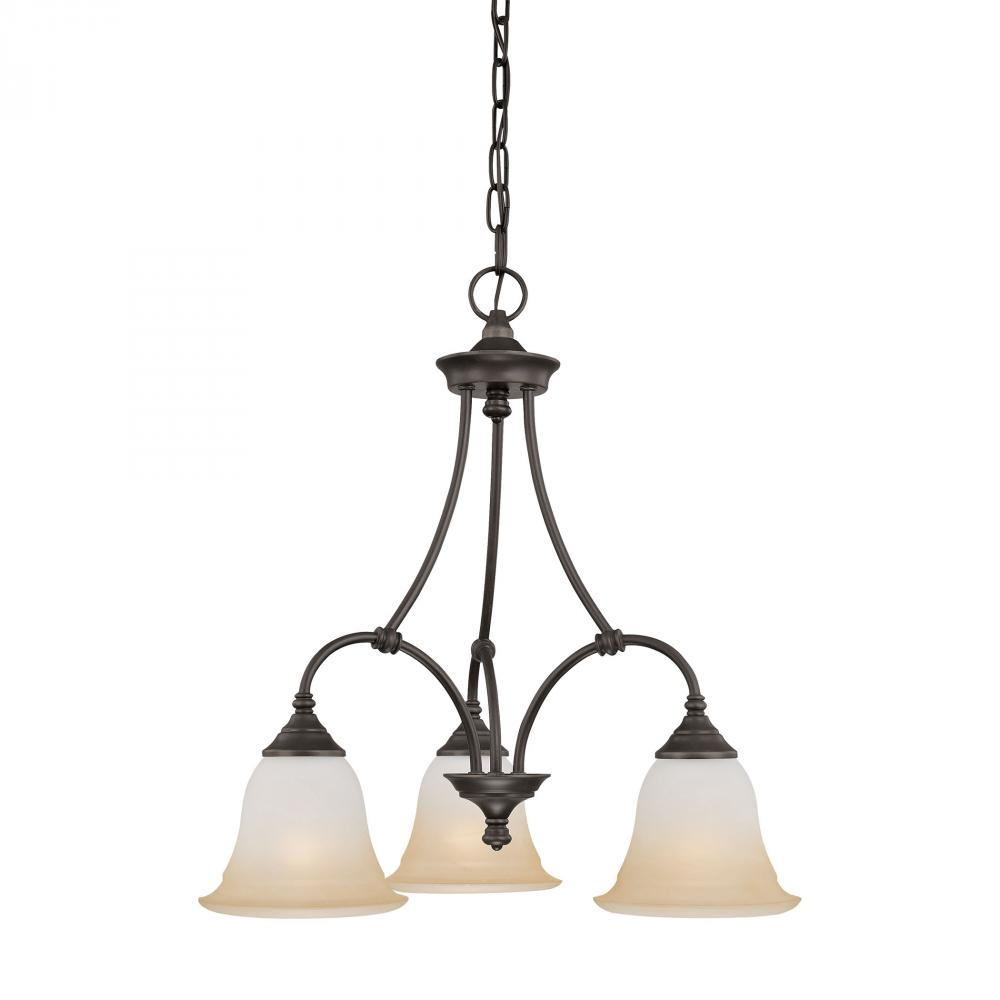 THO SL880362 Harmony 3-light Chandelier in Aged Bronze finish 3X100A19