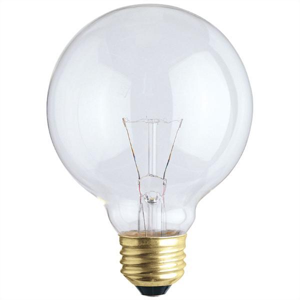 ABC 03120 60G25 60W G25 INCANDESCENT CLEAR E26 (MEDIUM) BASE 120V cs=12/72 discontinued by mftr 5/19