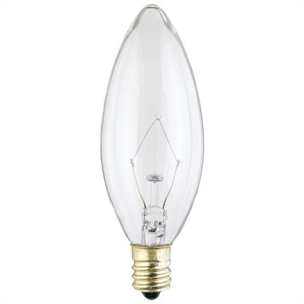 ABC 03683 40B9-1/2 TORPEDO LAMP CANDLE BASE 130V cs=25/200 345L