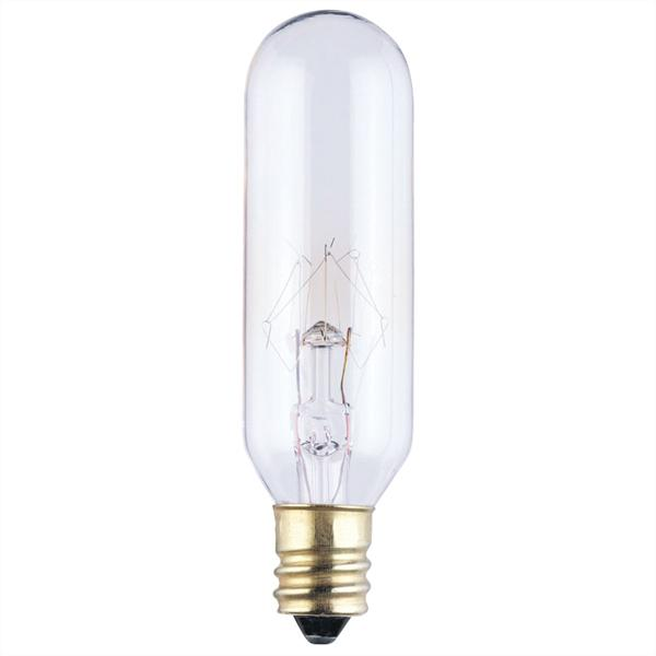 ABC 0388300 15W T6 INCANDESCENT CLEAR E12 (CANDELABRA) BASE, 145V cs=10/100 formerly: SUP 60252