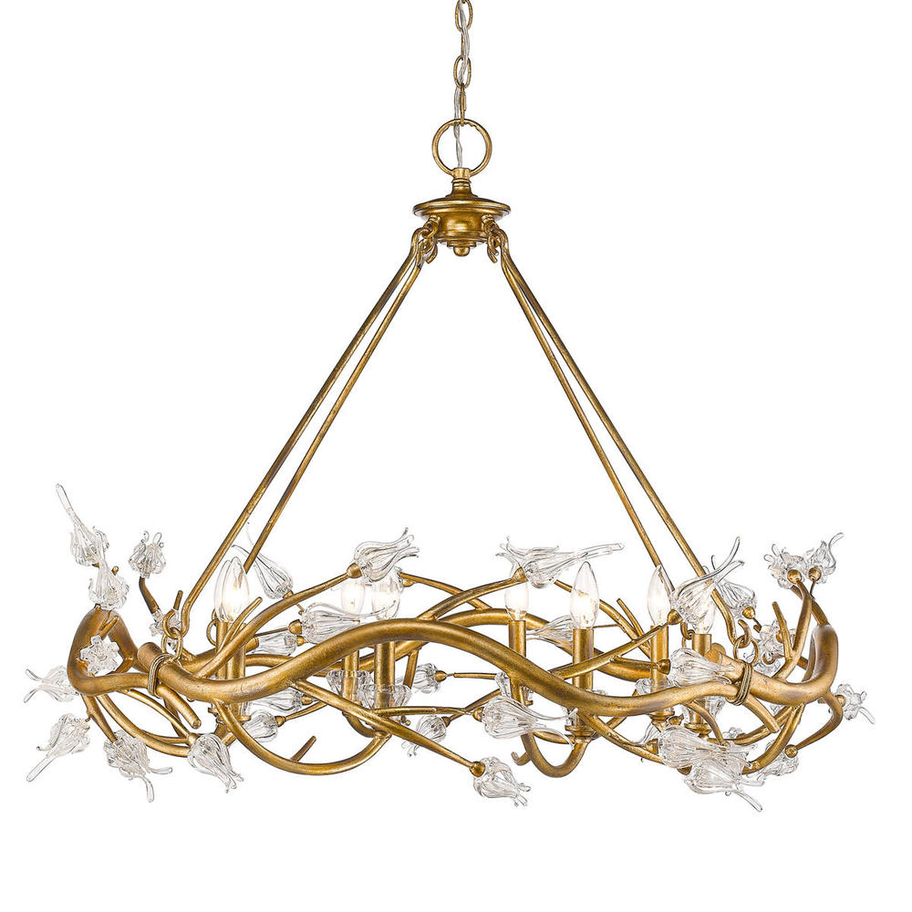 GOL 9942-8GL 8 Light Chandelier 8X60Incandescent, Type B