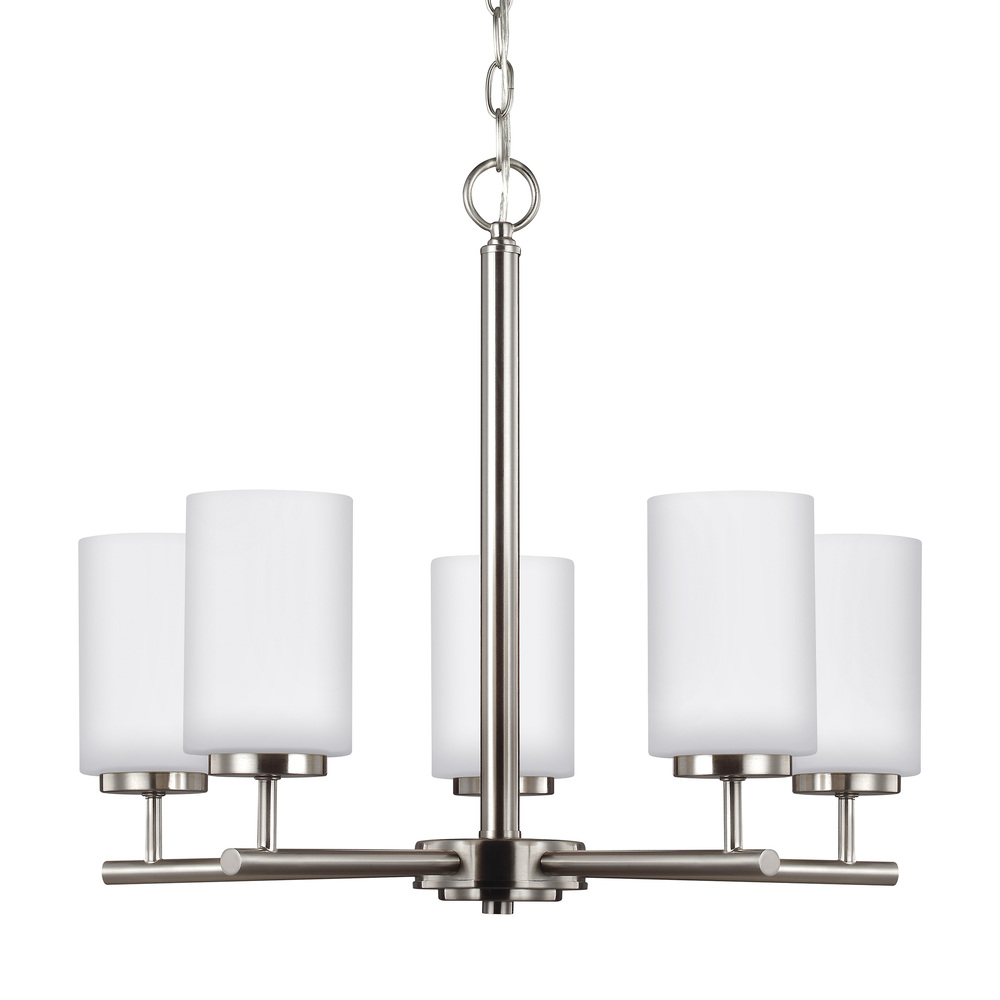 SEA 31161-962 5X100M Oslo Brushed Nickel Chandelier