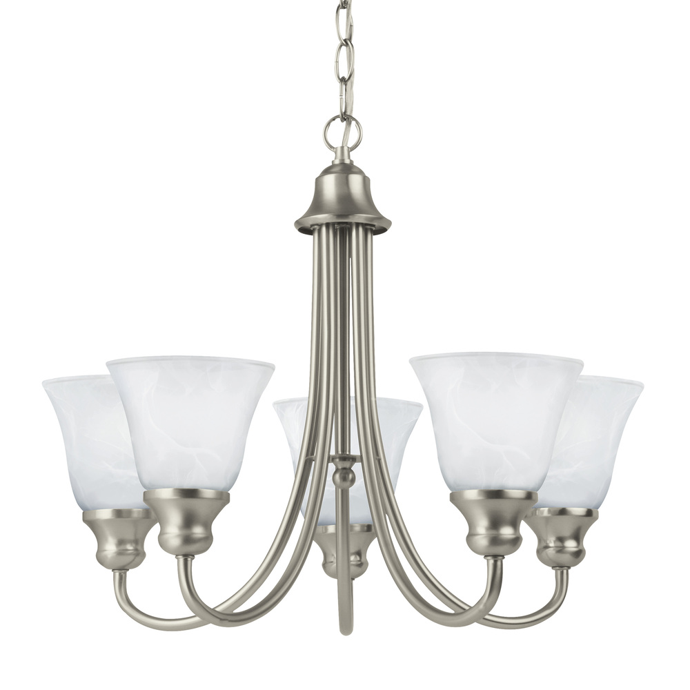 SEA 35940-962 5X100M Windgate Brushed Nickel Chandelier