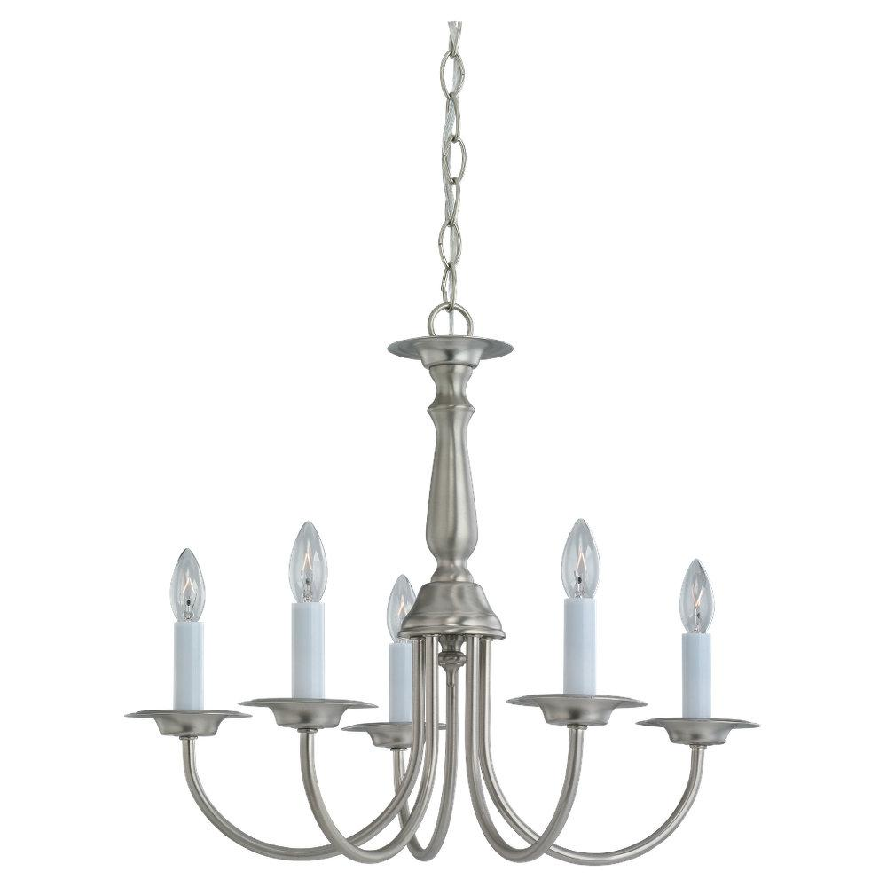 SEA 3916-962 Five Light Nickel Chandelier 5X60C