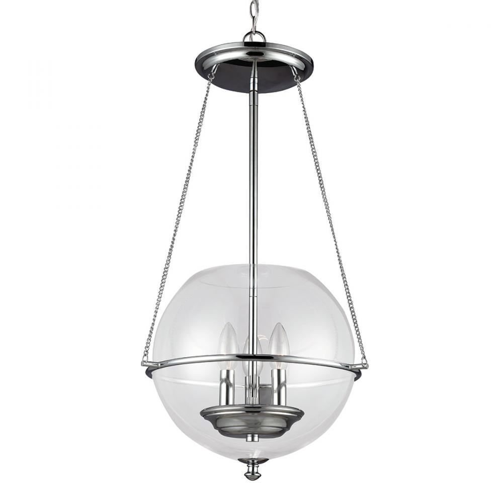 SEA 6511903-05 THREE LIGHT SMALL PENDANT IN CHROME 3X60C