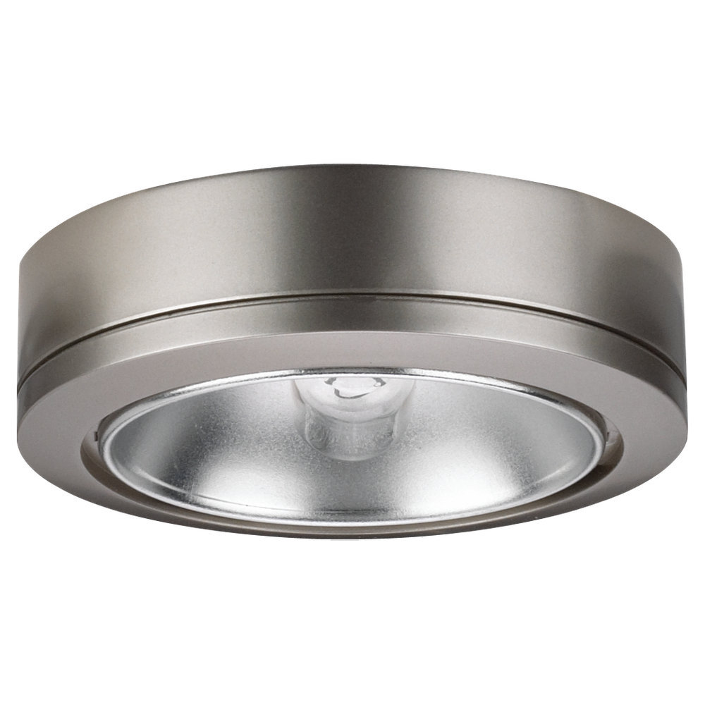 SEA 9858-962 1LT DISK PUCK LIGHT BRUSHED NICKEL EUROTECH FINISH^^** * RED TAG ITEM *
