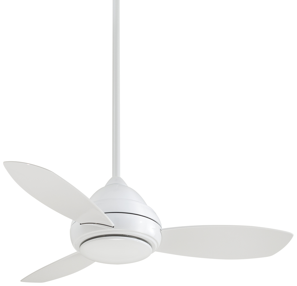 MIA F516-WH One Light White Ceiling Fan Concept I - 3 Blade Discontinued by the mfg 10 2017