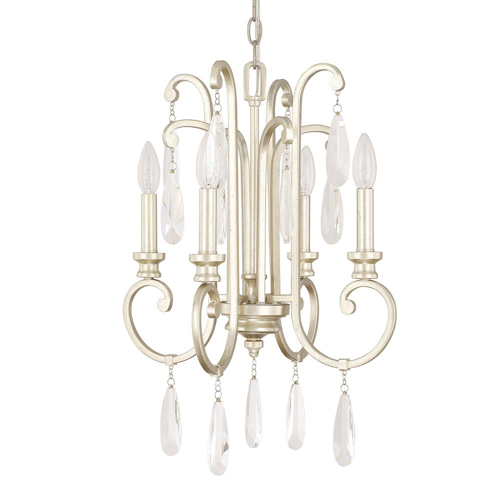 "CPL 313641WG Carrington 4Lt Winter Gold Chandelier 16""W x 21.5""H 60W Candelabra lamp not included"