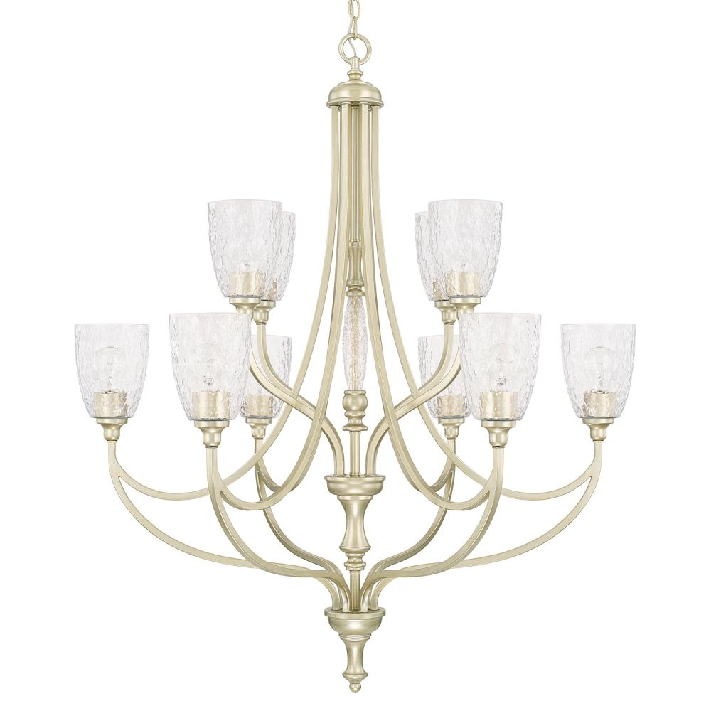 "CPL 410801SF-302 Soft Gold 10 Light Chandelier 10-60W-M 36""W x 42.5""H"
