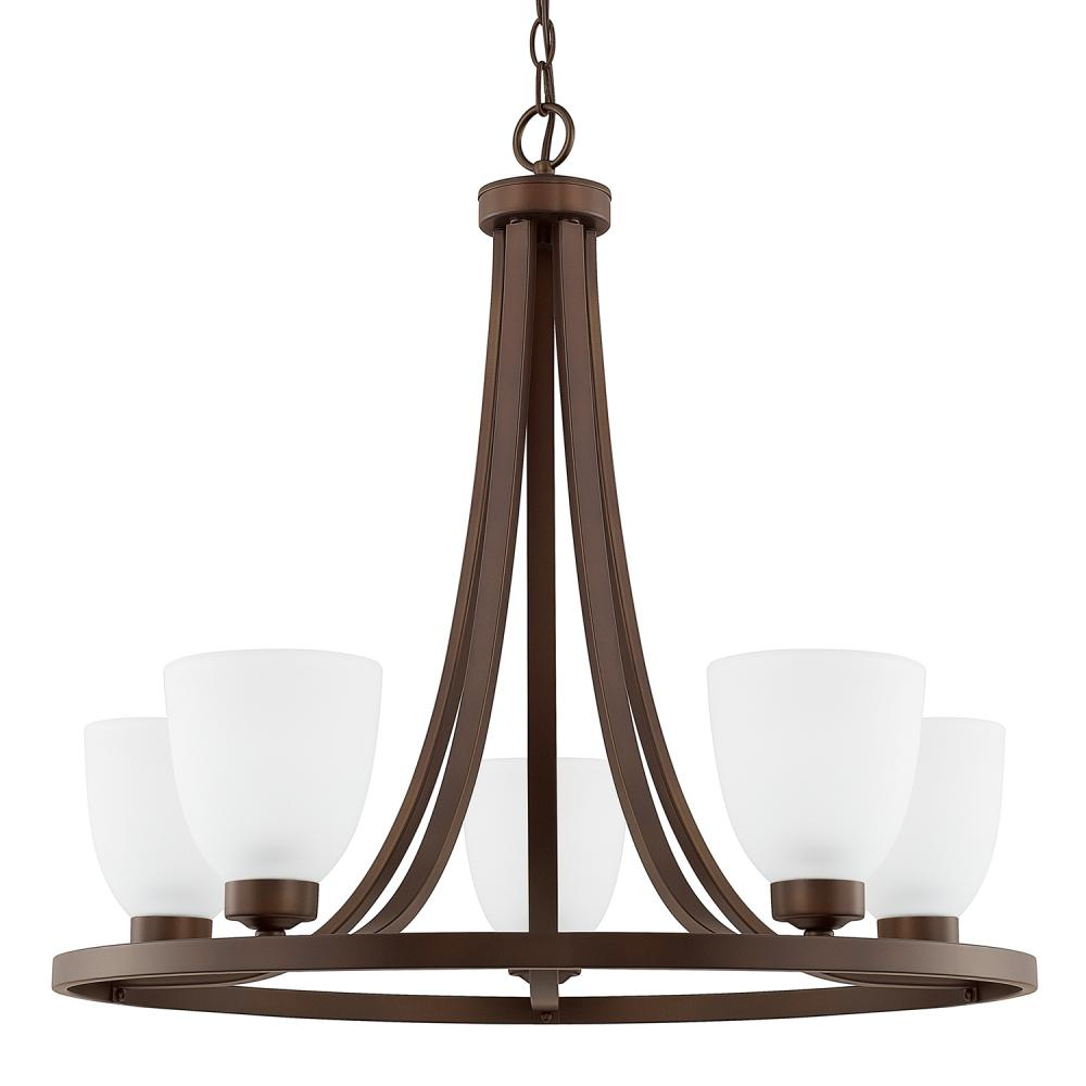 "CPL 414351BZ-333 Jameson 5Lt Bronze Chandelier 26""W x 24""H 100W Med lamp not included"