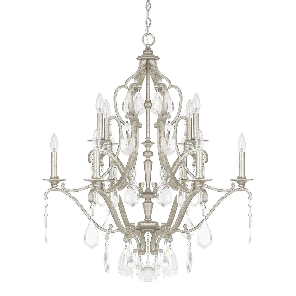 CPL 4180AS-CR 10 Light Chandelier 10X60Candelabra