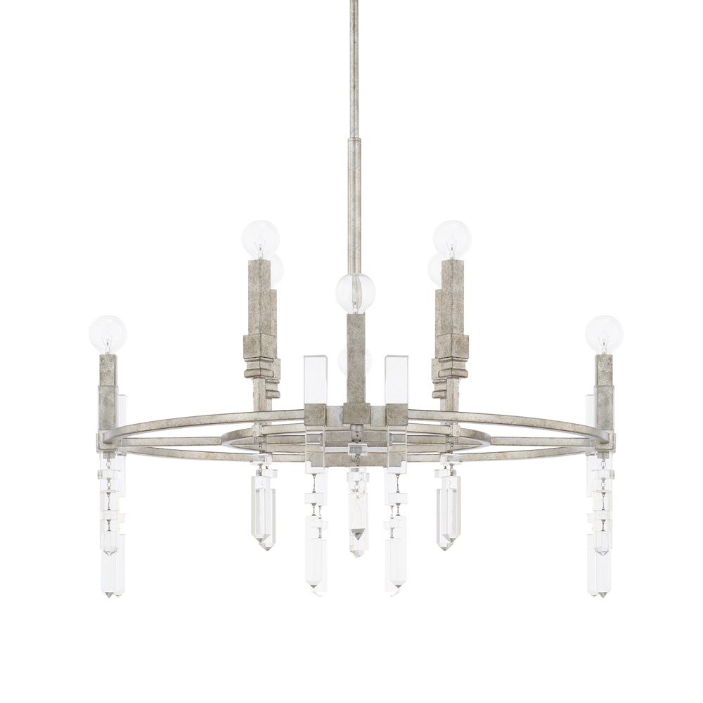 CPL 425381AS 8 Light Chandelier 60CAC/CL