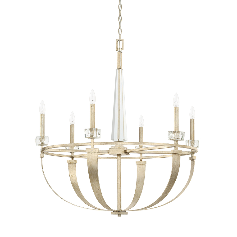 CPL 428161WG 6 Light Chandelier 60CAC/CL