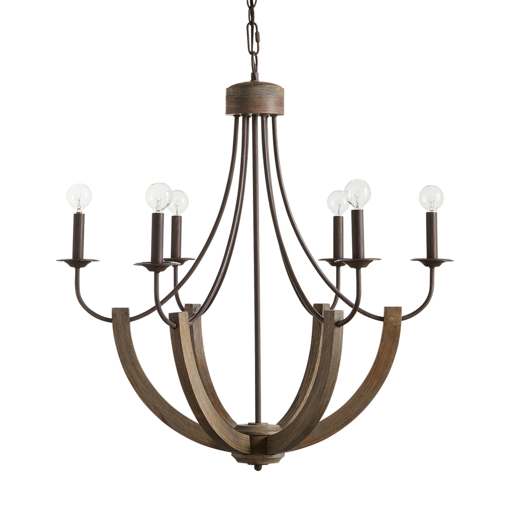 CPL 429161NG 6 Light Chandelier 60CAC