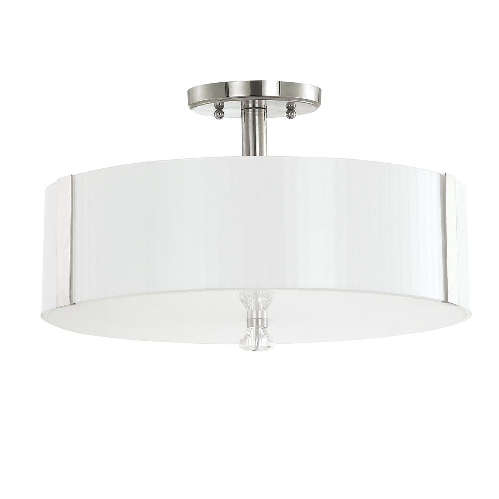 "CPL 4486PN-159 Alisa 3Lt Polished Nickel Semi Flush 16.25""W X 10""H 75W Med lamp not included NEWSTOCK AUG 2019"