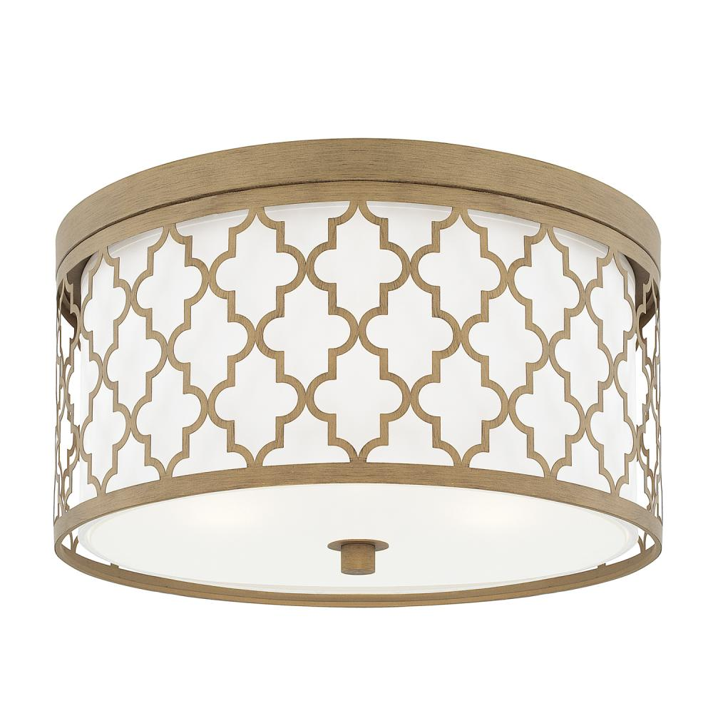 "CPL 4549BG Brushed Gold 3 Lighting Ceiling 3 - 60W-M 16""W x 8.5""H NEWSTOCK AUG 2019"