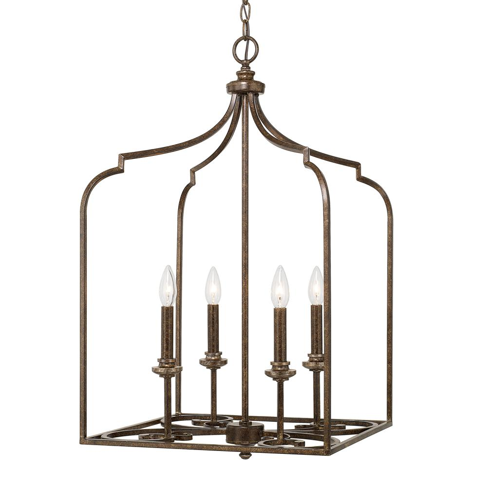 "CPL 518741DS Kingsley 4Lt Dark Spice Foyer 17.75""W x 35.25""H 60W Candelabra lamp not included"