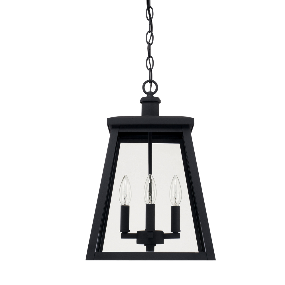 CPL 926842BK 4 Light Outdoor Hanging Lantern 60CAC/CL