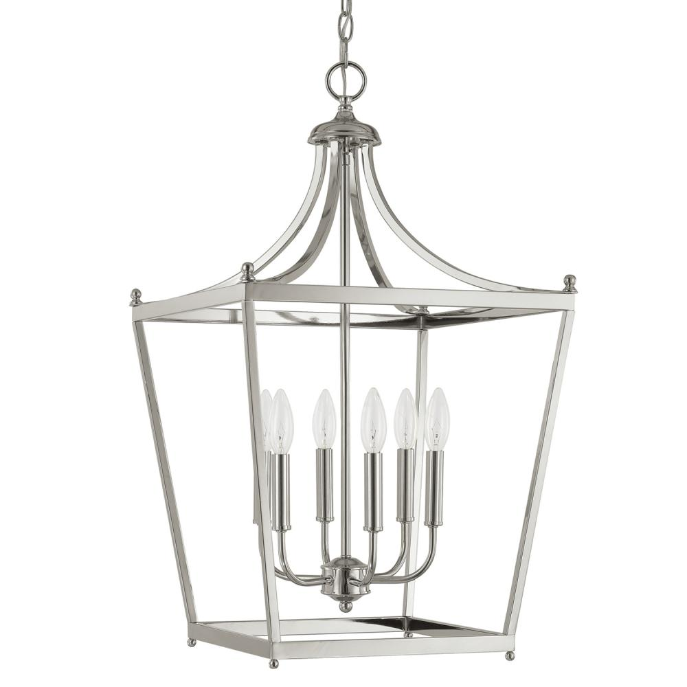 CPL 9552PN 6X60C Stanton Polished Nickel Foyer Pendant