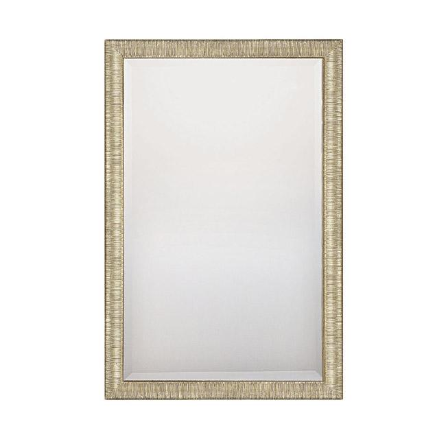 "CPL M322026 Striated Silver And Gold With Beveled Mirror 23.5""W X 35.5""H X 1.5""E"