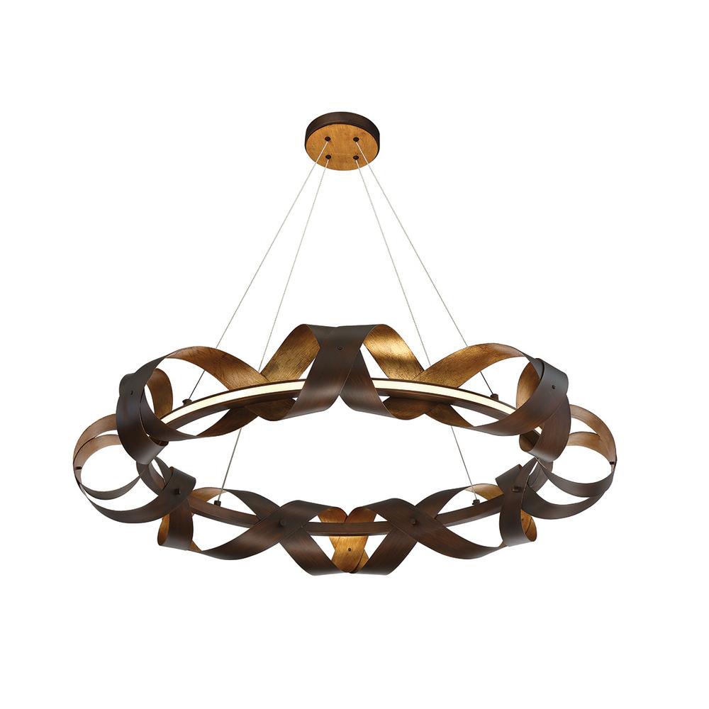 "EUR 30080-010 Banderia 1Lt Bronze Pendant 4""H x 33""W 40W LED"