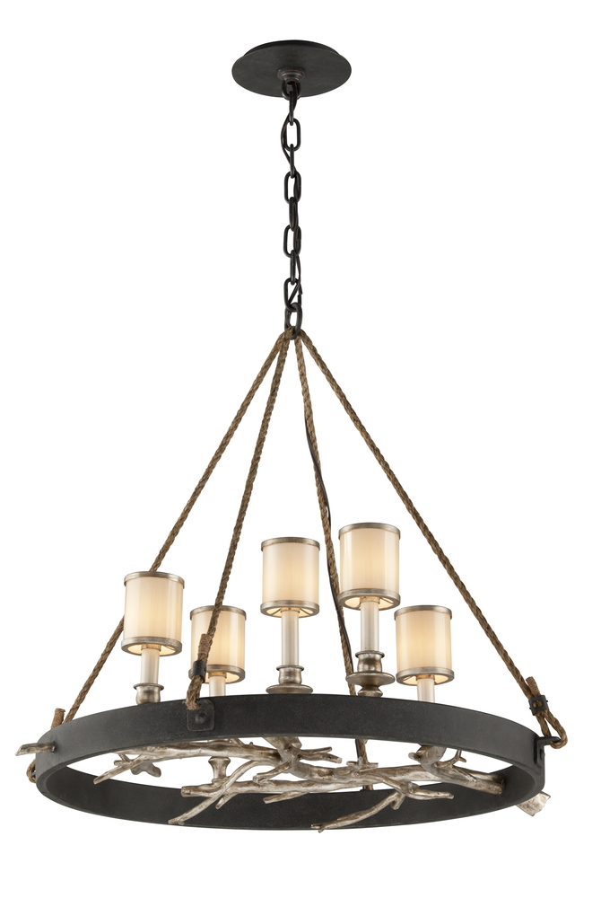 TRO F3446 Drift 5Lt Chandelier Dining Medium 5X60Candelabra