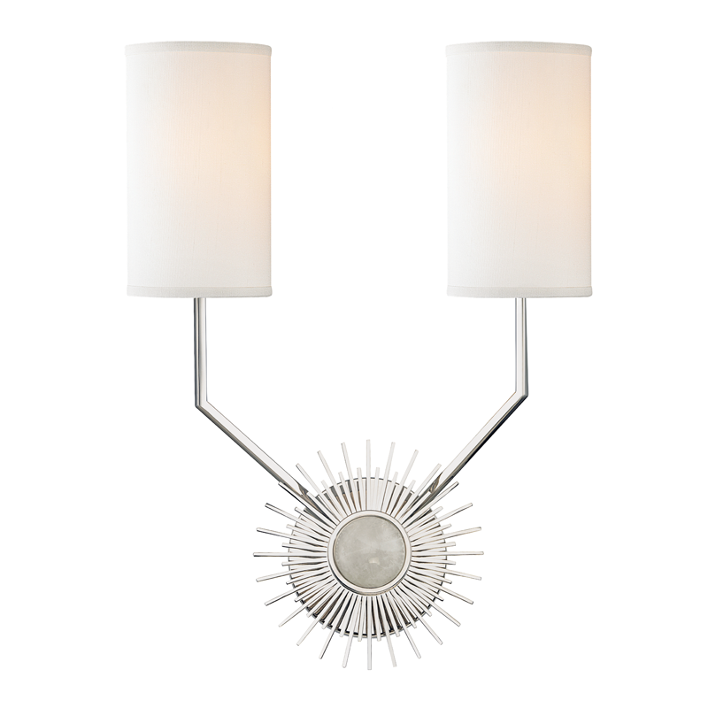 HDS 5512-PN 2 LIGHT WALL SCONCE 2X60E12 Candelabra