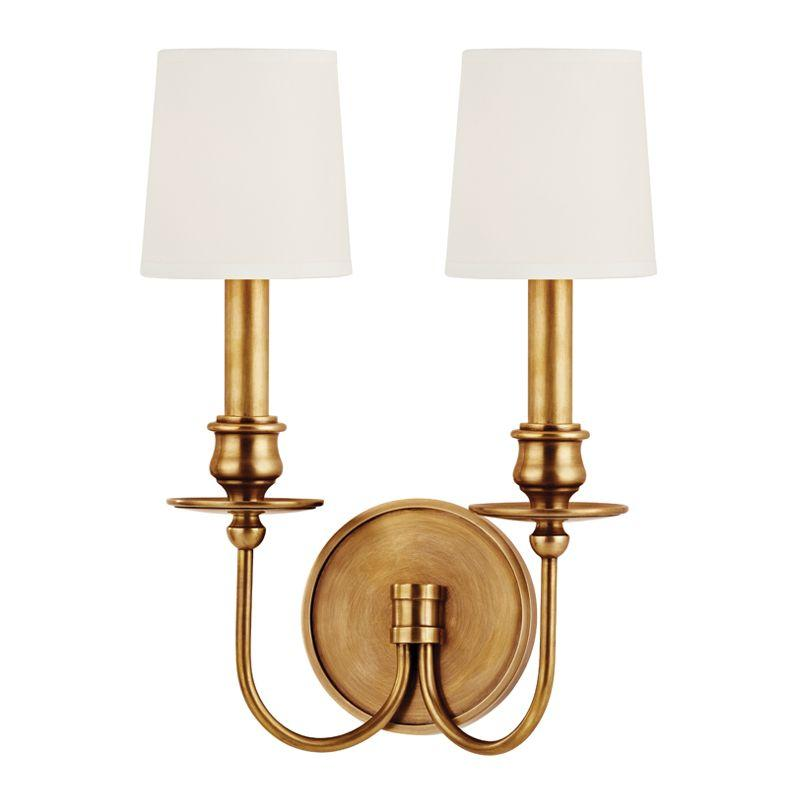$HDS 8212-AGB-WS Two Light Aged Brass Wall Light 2X40C *** RED TAG ITEM ***