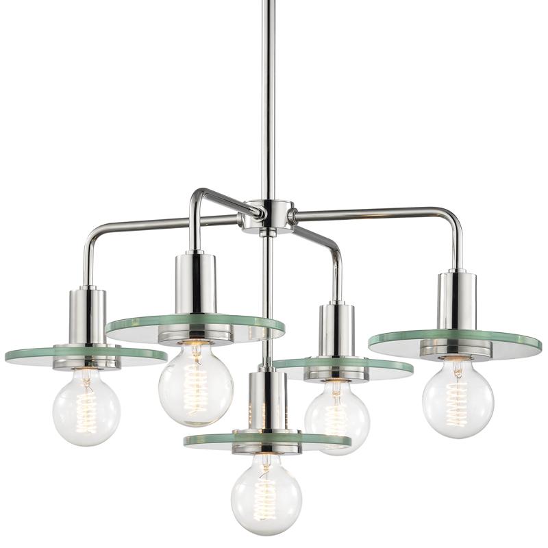 MITZI H113805-PN 5 Light Chandelier 5X60E26 Medium Base - G25 Bulb