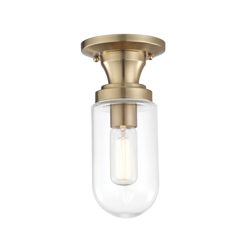 HDS H124601-AGB 1 Light Semi Flush 1X60E26 Medium Base - T14 Bulb NEWSTOCK MAR 2019