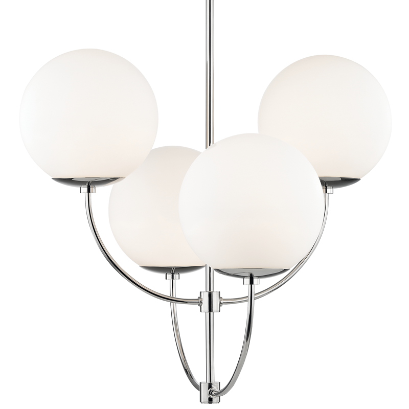 MITZI H160804-PN CARRIE CHANDELIER POLISHED NICKEL 4xE26