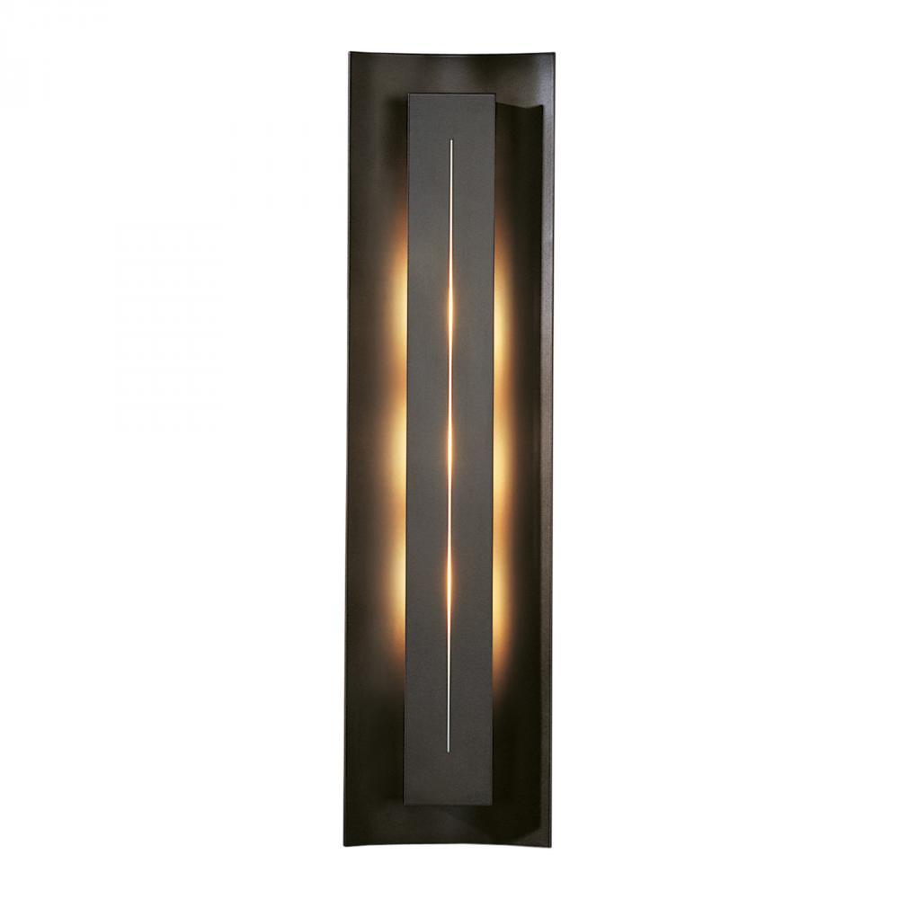 HBB 217635-07-C205 Three Light Dark Smoke (-07) Ivory Art Glass (c) Glass Wall Light 3X55CFL (4-pin) *** RED TAG ITEM *** $500
