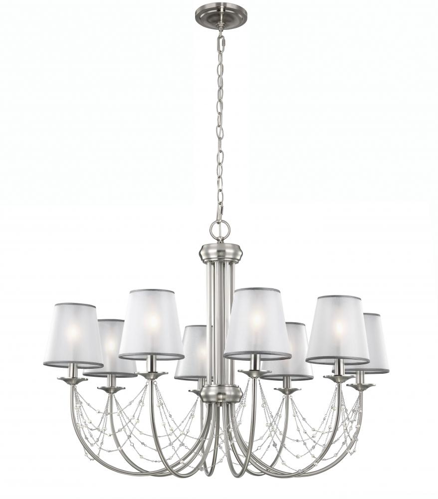 FEI F2920/8BS 8 - Light Aveline Mini Chandelier 8X480Candelabra