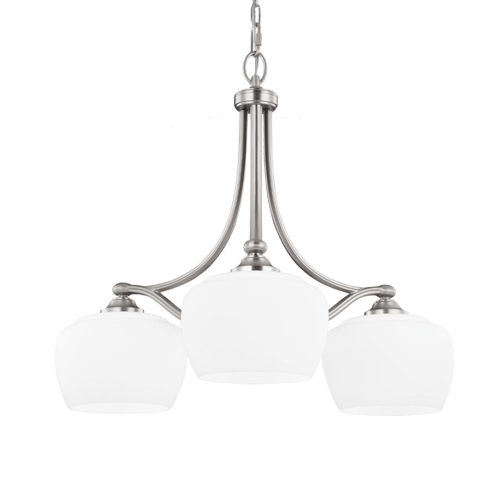 FEI F2964/3SN 3 - Light Chandelier Satin Nickel 3X75Medium