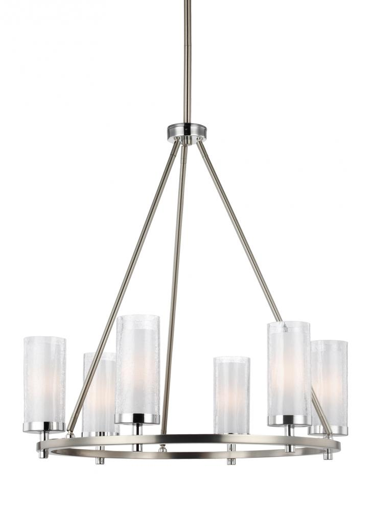 FEI F2985/6SN/CH 6 - Light Chandelier 8X40G9