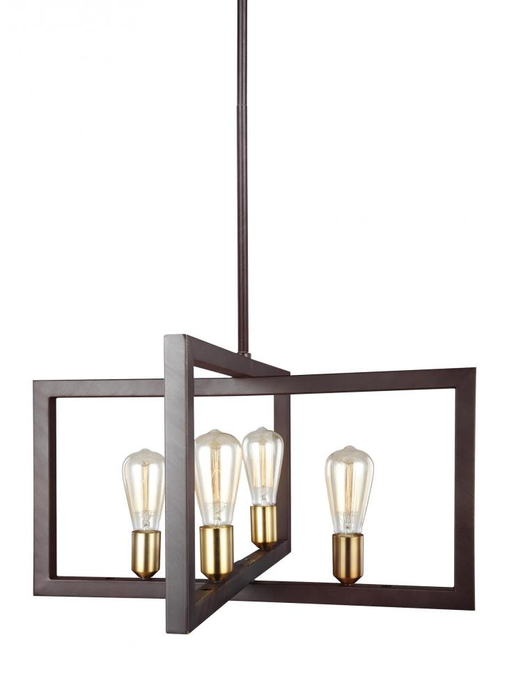FEI F3145/4NWB 4X60M Finnegan New World Bronze Chandelier