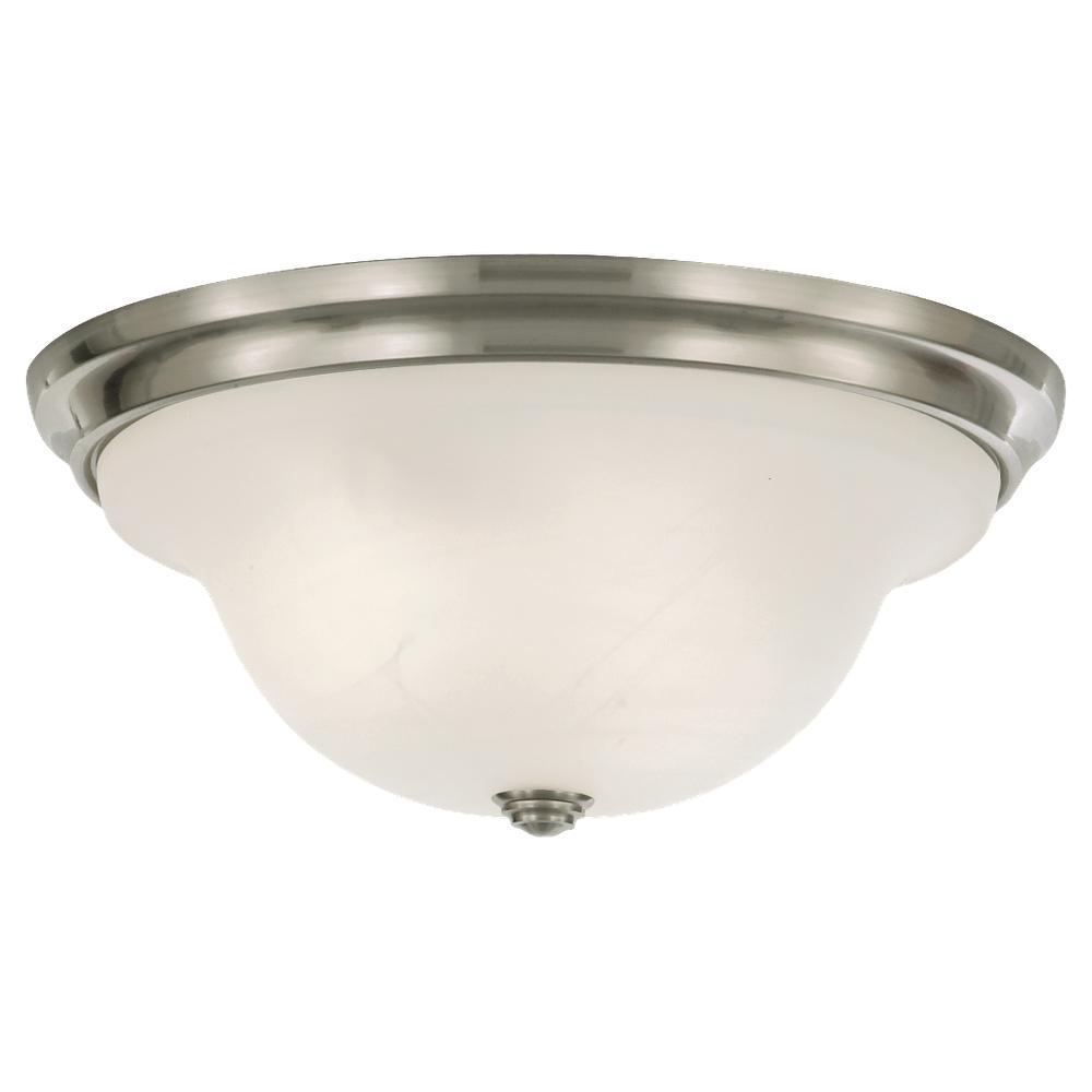 FEI FM252BS Three Light Brushed Steel White Alabaster Glass Bowl ...