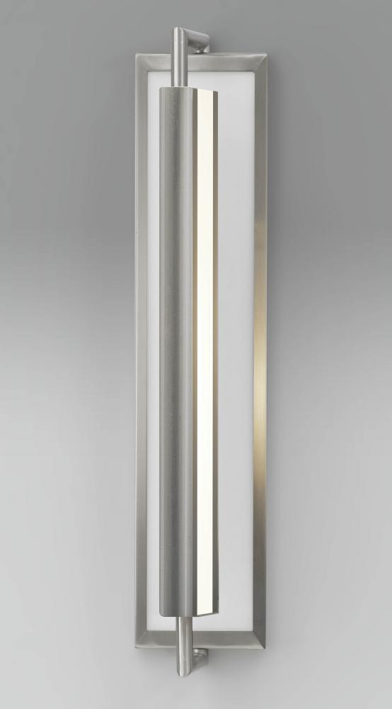 FEI WB1452BS Two Light Brushed Steel Wall Light 2X40Medium