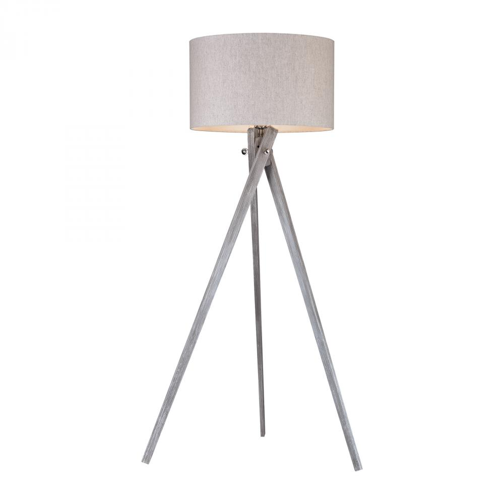 ELK D2961 DIMOND Whistler 1Lt Black Ash Floor Lamp 62