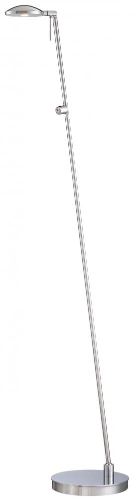 GKL P4334-077 One Light Chrome Metal Shade Floor Lamp 1X8LED