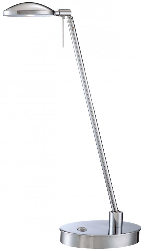 GKL P4336-077 One Light Metal Shade Chrome Table Desk Lamp 1X8LED
