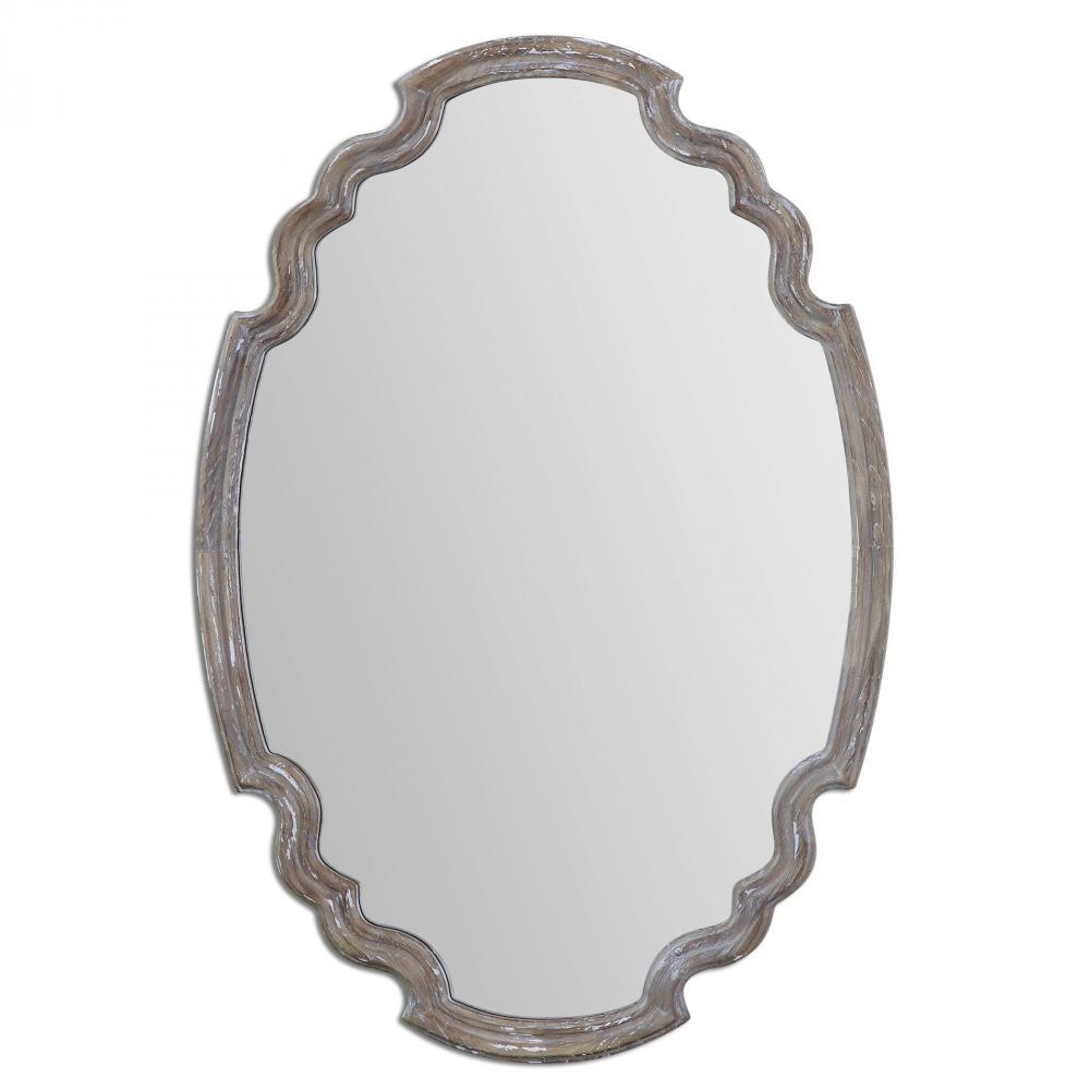 UTT 14483 Ludovica Aged Wood Mirror
