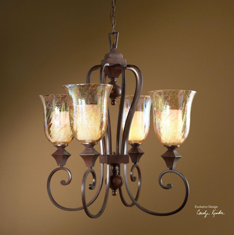 Uttermost Elba 4 Light Candle Chandelier