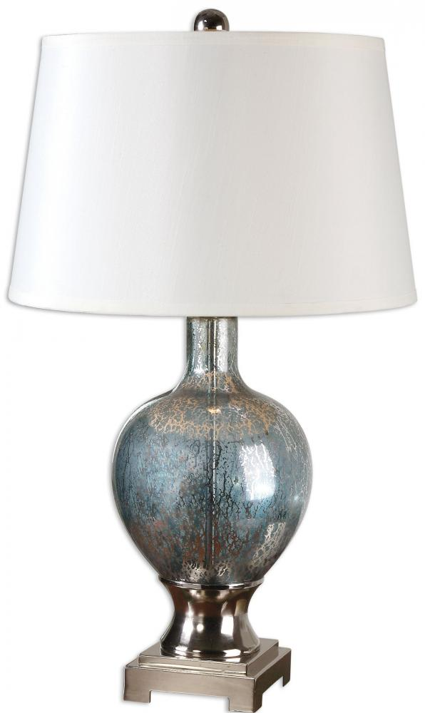 UTT 26490 One Light Polished Chrome Plated Table Lamp