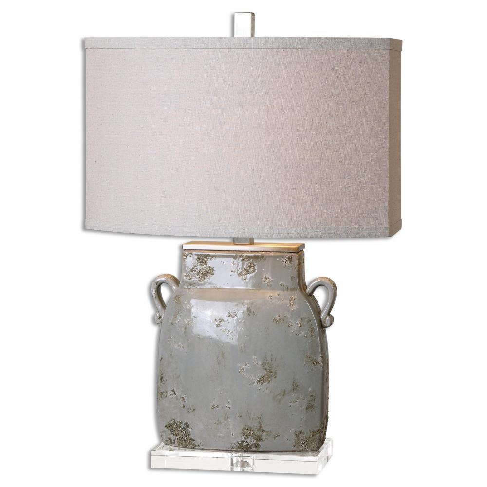 UTT 26613-1 Melizzano 1Lt Ivory-GrayTable Lamp 25