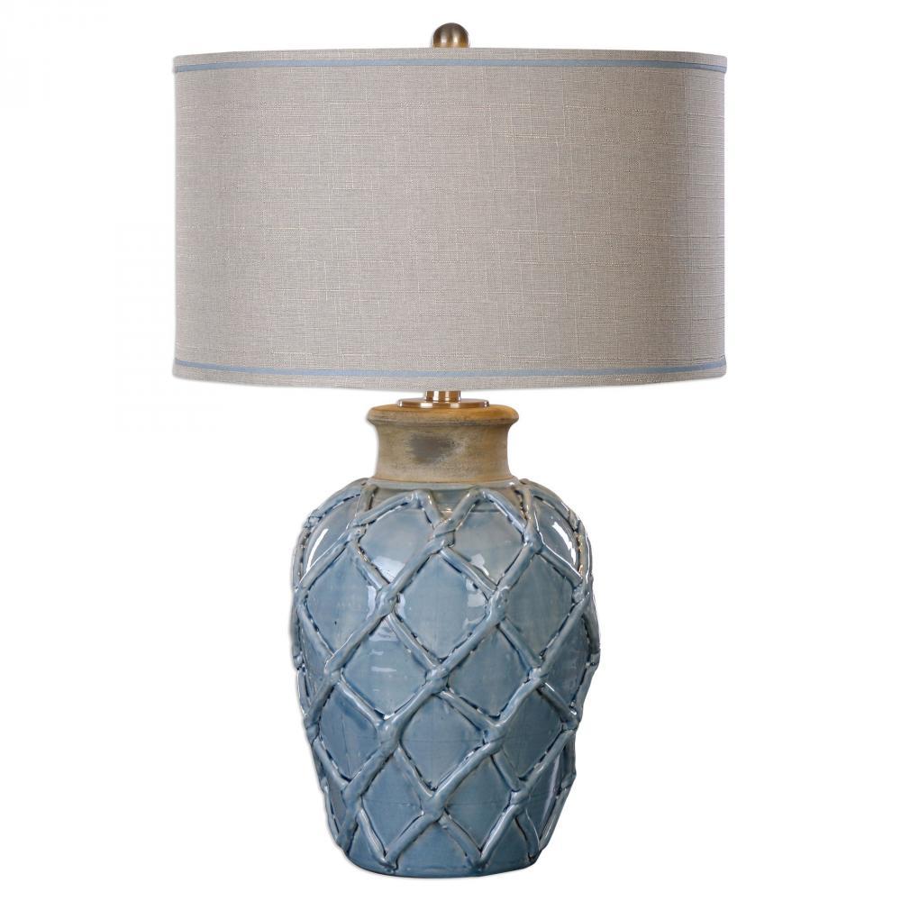 UTT 27139-1 Parterre 1Lt Pale Blue Table Lamp 30
