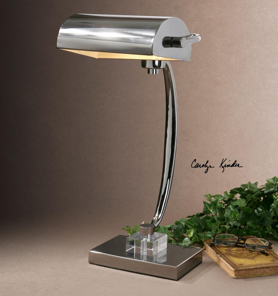 UTT 29582-1 One Light Chrome Desk Lamp 1X60W