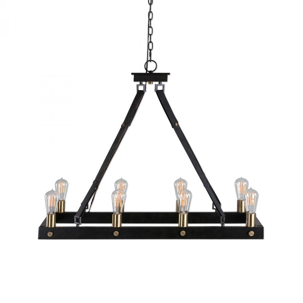 UTT 21279 Uttermost Marlow 8 Light Rectangle Chandelier 8X60E27